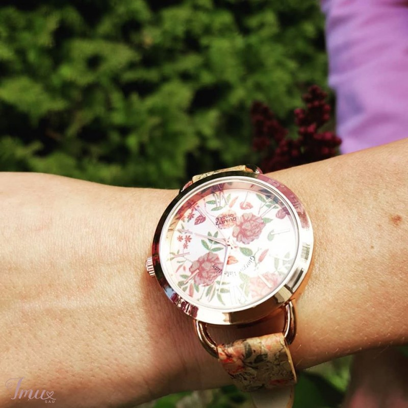 imusau.lt | parduodama Moteriškas laikrodis su natūralaus kamščio dirželiu