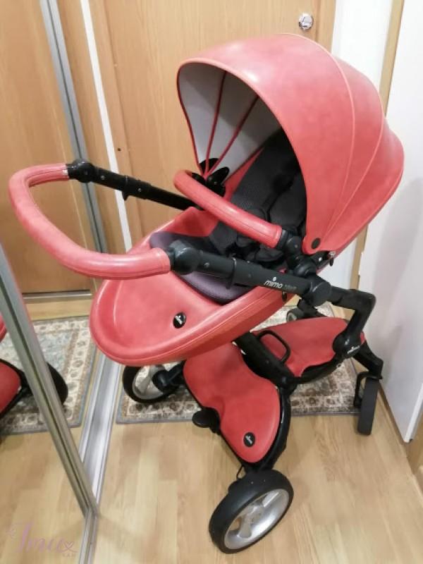 imusau.lt | parduodama Mima xari 3 in 1 sicilian red vežimas+skėtukas
